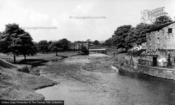 Photo of Gargrave, The River c.1955