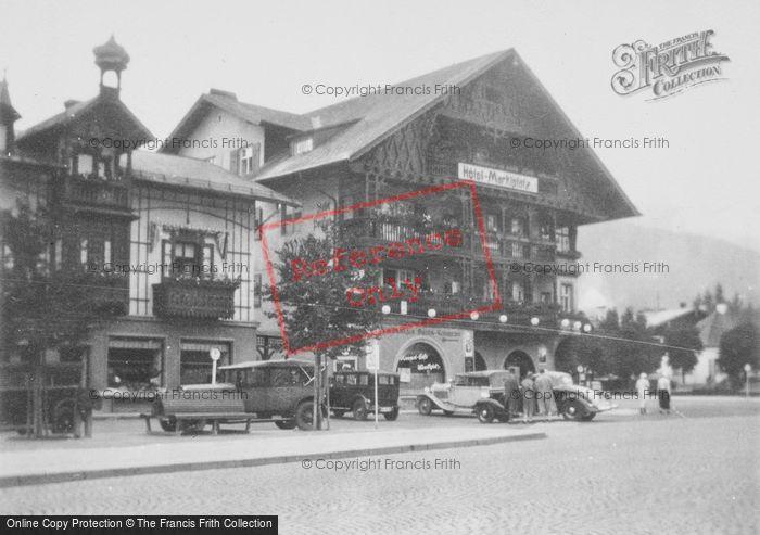 Photo of Garmisch Partenkirchen, Hotel Marklplatz c.1935