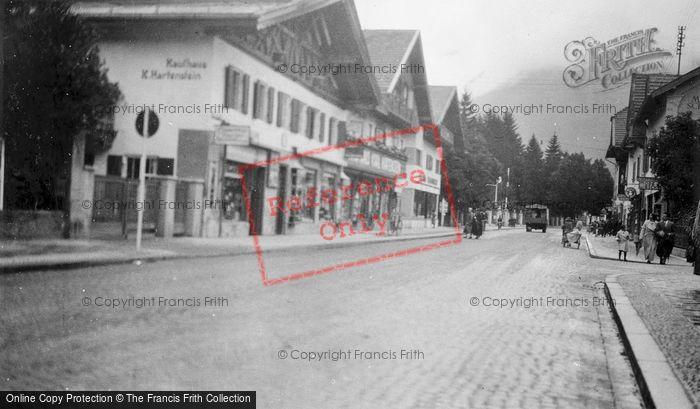 Photo of Garmisch Partenkirchen, Street Scene c.1935