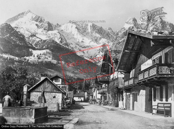 Photo of Garmisch Partenkirchen, View Showing Zugspitze, Waxenstein And Apspitze c.1935