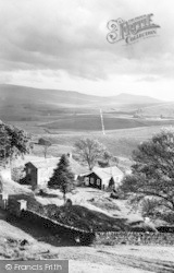 Garsdale Youth Hostel And Whernside c.1955, Garsdale