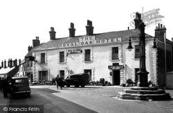 Market Cross And Royal Oak Hotel c.1955, Garstang