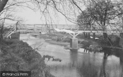 The Ford And Footbridge c.1955, Garstang