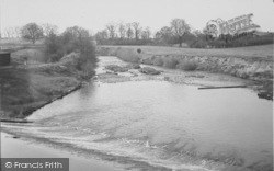 The River And Weir From The Bridge c.1955, Garstang
