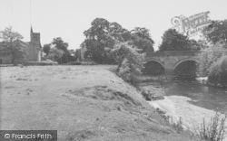 The River, Bridge And Church c.1960, Garstang