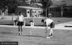 Garston, Boys Playing Croquet On Manor Games Lawn c.1955