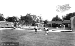 Garston, Playing Croquet On Manor Games Lawn c.1955