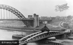 Gateshead, New Tyne And Swing Bridges c.1955