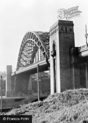 Gateshead, New Tyne Bridge c.1955