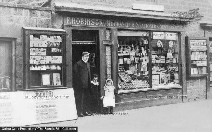 Photo of Gateshead, Robinson's Newsagent, Durham Road 1903