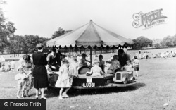 Gateshead, Saltwell Park, Children's Roundabout c.1955