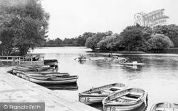 Gateshead, Saltwell Park Lake c.1955