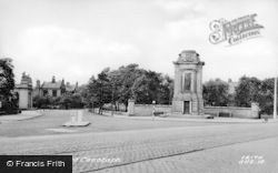 Gateshead, The Cenotaph c.1955