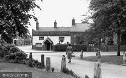 Gatley, Prince Of Wales Hotel From The Green c.1955