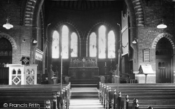 Gatley, St James' Church Interior c.1955
