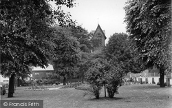 Gatley, The Green And St James' Parish Church c.1955