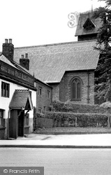 Gatley, The Prince Of Wales Hotel And Church c.1955