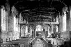 Gawsworth, St James's Church Interior 1898