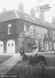 Gawsworth, The New Hall, Girl On A Donkey 1898