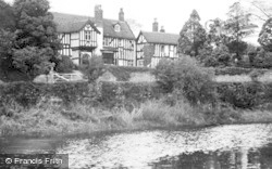 Gawsworth, The Vicarage From Lake c.1950