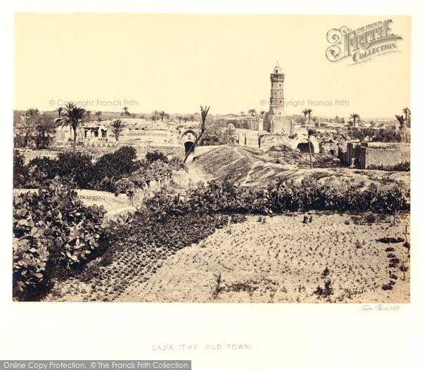 Photo of Gaza, The Old Town 1858