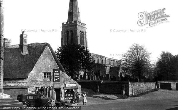 Photo of Geddington, St Mary Magdalene's Church c1955