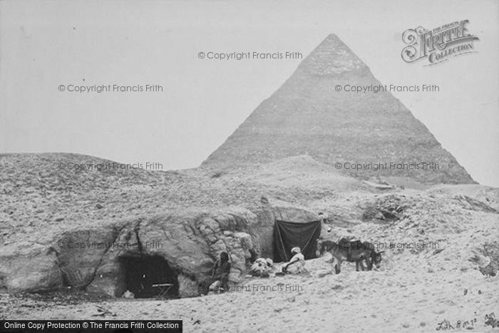 Photo of Geezeh, Rock Tombs And Belzoni's Pyramid 1857