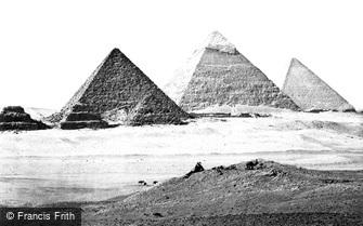 Geezeh, the Pyramids 1859
