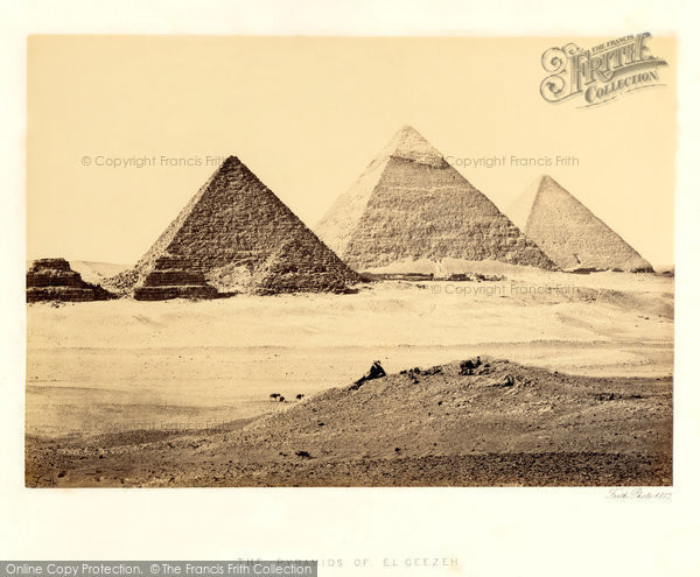 Photo of Geezeh, The Pyramids 1859