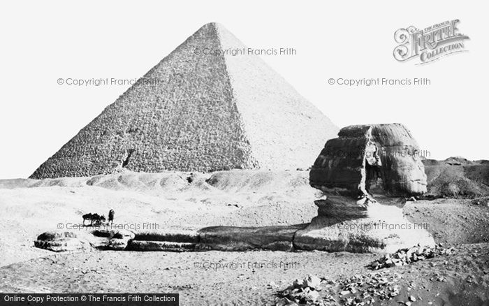 Photo of Geezeh, The Sphynx And Great Pyramid 1859
