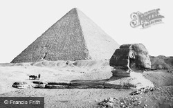 The Sphynx And Great Pyramid 1859, Geezeh