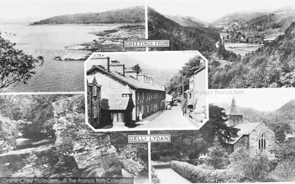 Photo of Gellilydan, Composite c.1935