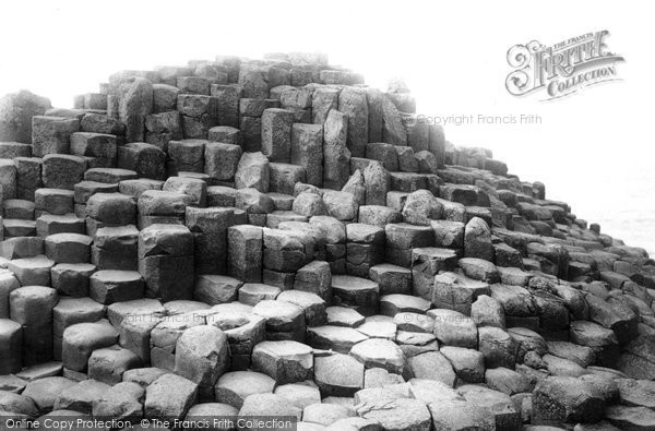 Photo of Giant's Causeway, The Wishing Chair c.1897
