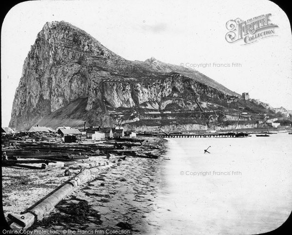 Photo of Gibraltar, From Spanish Main Isthmus c.1862