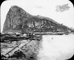 Gibraltar, From Spanish Main Isthmus c.1862