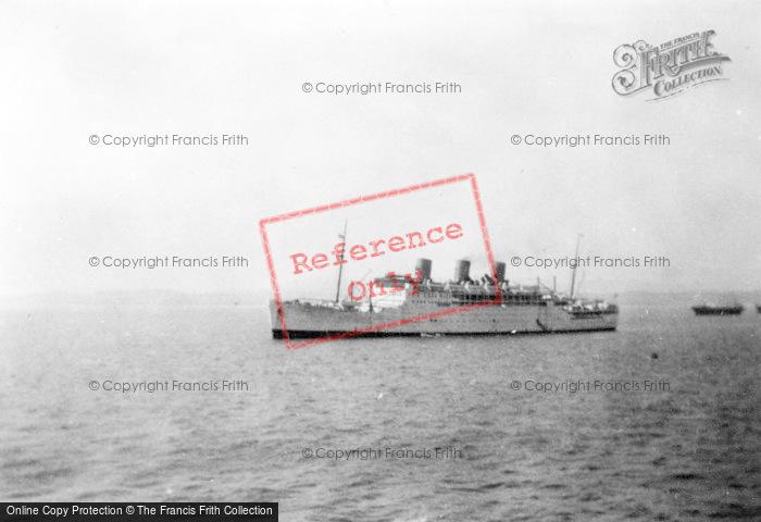 Photo of Gibraltar, The S.S. Strathnaver c.1935
