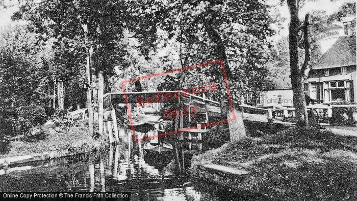 Photo of Giethoorn, Canal Scene c.1930