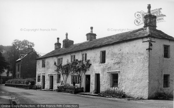 Photo of Giggleswick, Old Cottages c.1955