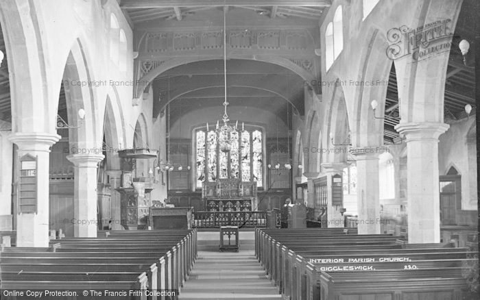 Photo of Giggleswick, Parish Church, Interior c.1900