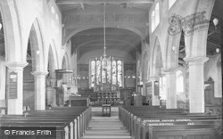 Giggleswick, Parish Church, Interior c.1900
