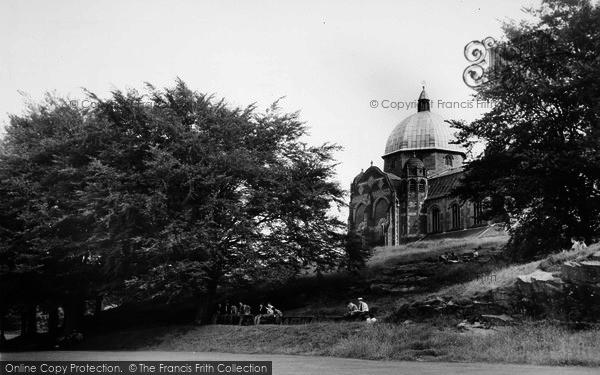 Photo of Giggleswick, School Chapel And Pupils c.1960