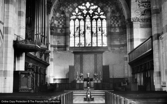 Photo of Giggleswick, School Chapel, Interior c.1955
