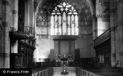 Giggleswick, School Chapel, Interior c.1955