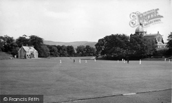 Giggleswick, School Cricket Field c.1955