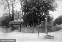 Giggleswick, St Alkelda's Church And Cross 1903