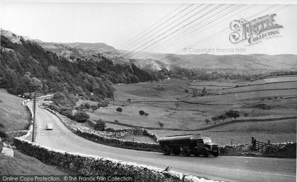 Photo of Giggleswick, View From Giggleswick Scar c.1955