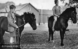 White Star Boys Camp, Pony Riding c.1950, Gileston