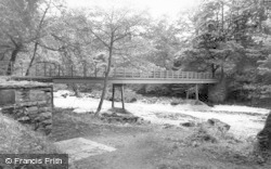Gilsland, The Footbridge c.1955