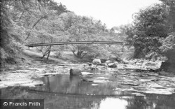 Gilsland, The Popping Stone Bridge c.1950