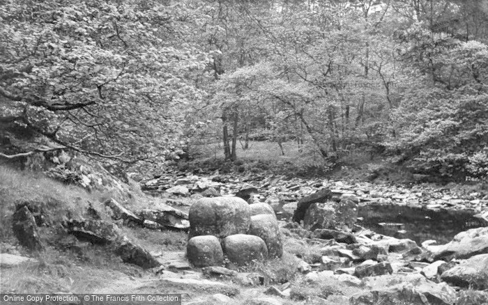 Photo of Gilsland, The Popping Stone c.1950